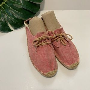 Soludos lace up espadrilles size 38
